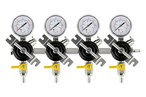 Four Gauge Secondary CO2 Regulator