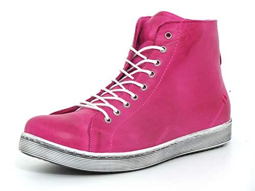 Andrea Conti Damen Sneaker High Top Schnürboots 0341500, Größe:38 EU, Farbe:Pink