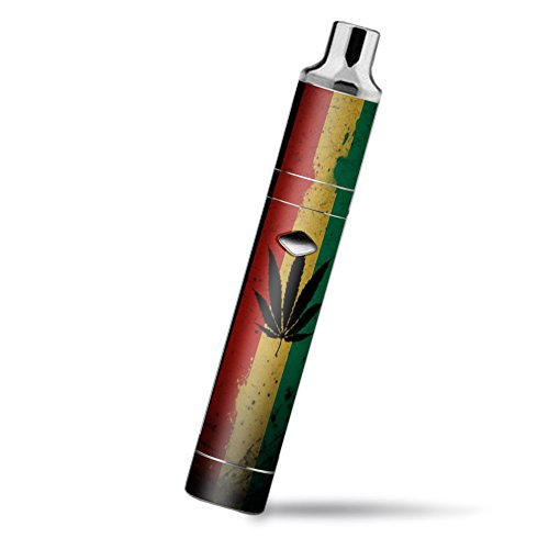 Skin Decal Vinyl Wrap for Yocan Magneto Pen Vape Mod Stickers Skins Cover/Rasta Weed Pot Leaf Red