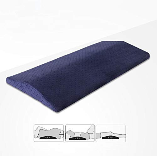 Ecloud Shop® Almohada para dormir Almohadilla para el cuello de espuma viscoelástica Cojín de soporte lumbar para el dolor de espalda baja Cadera Rodilla y alivio del dolor en las articulaciones(Azul)