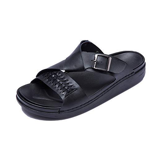 XYAL0003001 Xingyue Aile Pantoffels & Sandalen Zomer casual sloopsluiting voor mannen, Leather Sneakers - Mönch beugels casual eenvoudige normale lak buitenzool sandelhout