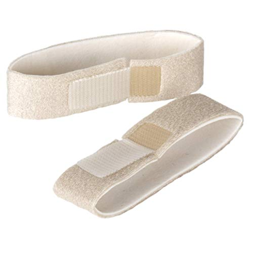 Flents Finger & Toe Wraps | Compression Bandage Supports & Aligns | 2 Straps with Velcro Closure