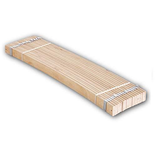 Stella Trading Rollrost aus stabilen Federleisten für Liegefläche 140 x 200 cm (2x70cm/ Article consists of 2x70cm) -Hochwertiger Lattenrost aus Birkenschichtholz