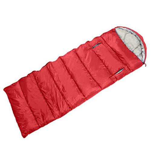 EASON Sac de Couchage en Plein air, Sac de Couchage épaississement Camping Montagne équipement Sportif Chaud Multi-Fonction Adulte Accessible Rouge 0,7 kg