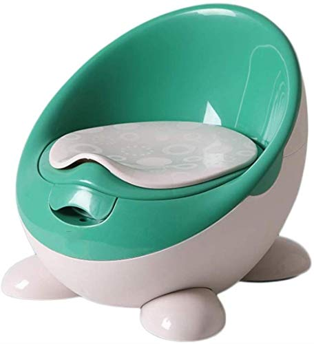 GCX- Ménage Potty, Formation Baby Plastique Kid Toilettes Anneau Facile à Nettoyer, Amovible Voyage Chaise Potty Lumière (Color : Green)