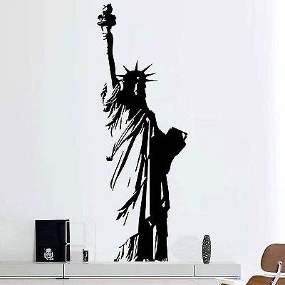 zqyjhkou Vinilos Decorativos Grandes de Vinilo, Estatua de la Libertad, Nueva York, EE. UU, Art Deco, Decoración del hogar, Sala de Estar, Dormitorio