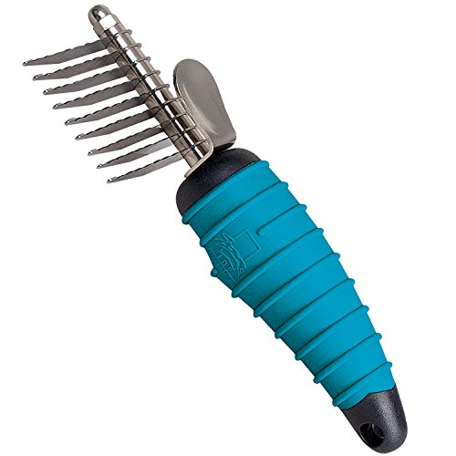 Master Grooming Tools Ergonomic Dematting Tools — Molded Tools for Grooming Dogs - 9-Blade Comb, 6⅞'
