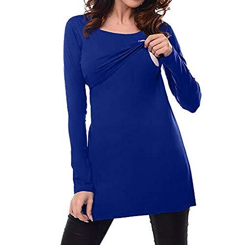 STRIR Camiseta de Lactancia Maternidad de Doble Capa Camisa Mujer Blus