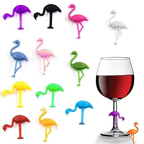 Marcatori Di Bevande Di Vino Marcatore Per Bicchiere Di Vino In Silicone Marcatori Per Bevande In Silicone Marcatori Per Bicchieri Da Vino Per Feste Decorazioni Per Tavoli Da Bar Per Feste, 12 Pezzi