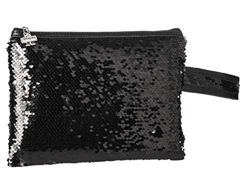 Shausa Neceser Lentejuelas 25 x 17 cm strandtas, 25 cm, zwart (Negro)