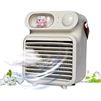CuFun 4000mAh Rechargeable Portable Air Conditioner with 3 Speeds for Home, Office, Camping (White)