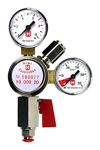 Premium CO2 Druckregler (Hiwi) Druckminderer für die Umrüstung QUOOKER CUBE auf CO2-Mehrwegflasche
