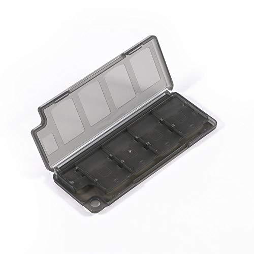 Domybest 8 in 1 transporttas voor opslagkaarten, opslag van geheugenkaarten, speelkaarten, beschermhoes van kunststof, voor Sony PS Vita zwart.