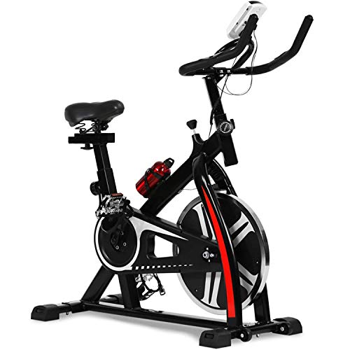 Fdw Exercise Bike Recumbent Spin Cycling Bike with Adjustable Foot for Home