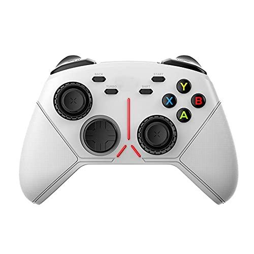 Zexrow Mando para Nintendo Switch, Mando Pro Controller Mando Pc Inalambrico con Función Gyro Axis/Dual Shock Y Turbo Compatible con Nintendo Switch (Color : White 3)