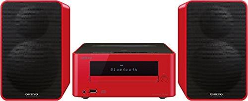Onkyo CS-265DAB-R - Sistema mini (Bluetooth, NFC, USB frontal) color rojo