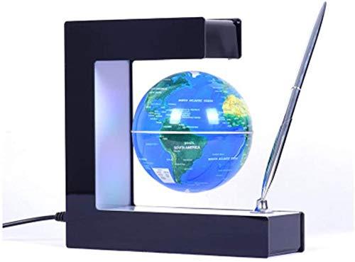 Miwaimao Globe de lévitation magnétique en forme de E 7,6 cm avec stylo pour l'apprentissage/l'enseignement, la démonstration à domicile, le bureau