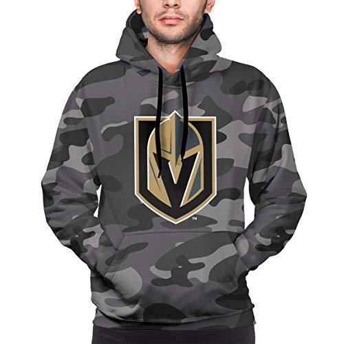 TWOIYIN Men's Casual Camo Vega-s Hoodie Gold-en Kn-ights Youthful Personality Pullover Long Sleeve Sweatshirts XL