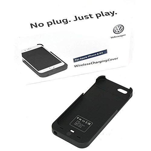 Volkswagen 000051435Ae Wireless Charging Cover Original VW Adaptador para Apple iPhone 6/6s inalámbrico estación de Carga