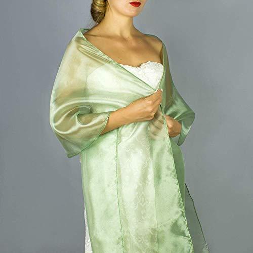 Chal organza color verde aceituna novia boda novia para vestido de fiesta