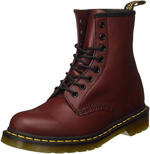 Dr. Martens Adult 1460z Classic Airwair 8 Eyelet Boots UK 5 Cherry Red Smooth, 38 EU