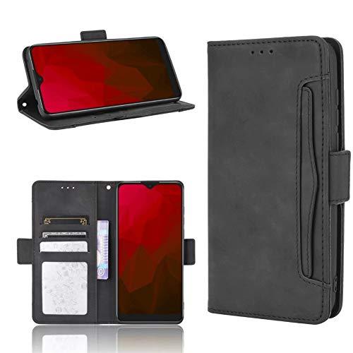 MINGYOUNG Cuero Funda Compatible con ASUS ROG Phone II/ROG Phone 2/ZS660KL,Flip Case Carcasa con Cierre magnético Ranura para Tarjetas múltiples (Negro)