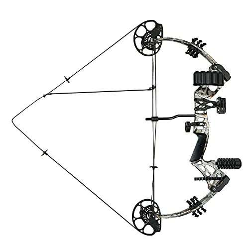Ghost Hand Compound Bow Set 15-45lbs for Teens with Archery Hunting Equipment Max Speed 320fps,...