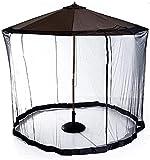 Red de sombrillas de jardín Jardín Parasol Net Patio Simple Single Zipper Mosq-Uito Net Terrace Net para Gazebo Patio de la sombrilla de la sombrilla del jardín ( Color : Black , Tamaño : One size )