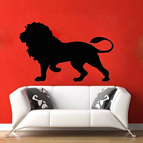 Lew sypialnia dekoracji zwierząt sztuki naklejki ścienne wystrój domu salon król lew ścienne wymienny etykiety winylowe tapety B525_Black