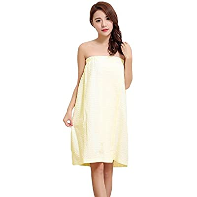 Greenery-GRE Women's Waffle Bathrobe Spa Bath Wrap Towel Soft Water Absorbent Cotton Shower Cover up, Adjustable Closure
