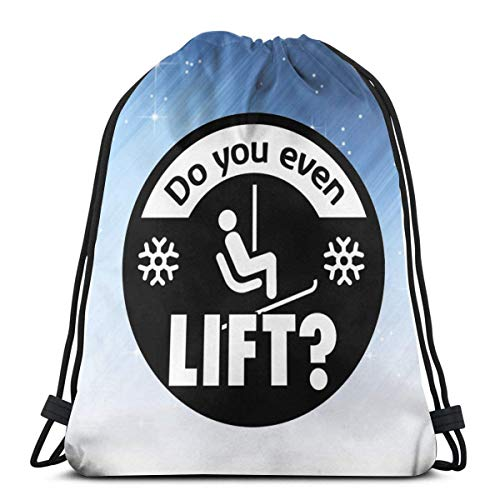 QUEMIN Do You Even Lift Unisex Drawstring Backpack Cinch String Bags for Sports Gym Yoga Swimming Traveling 14.2 x 16.9 Inch/36 x 43cm