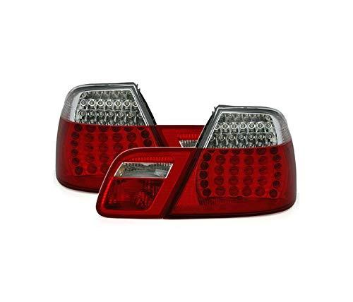 Fanali posteriori VT314 Gruppo luce posteriore 1 coppia Driver e Lato Passeggero Set Completo LED Vetro Trasparente Rosso Bianco Compatibile Con BMW Serie 3 E46 1999 2000 2001 2002 2003 Coupé
