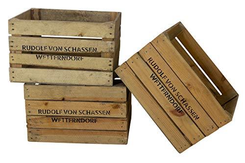 moooble Obstkiste Dekorativ Gebraucht Weinkiste mit Schriftzug Rudolf von Schassen (4,8)