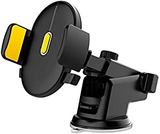 LEEIOO Car mount Dashboard&windshield Car Phone Holder Cell Phone Car Cradle for iPhone X 8/8s 7 7 Plus 6s Plus 6s 6 SE Samsung Galaxy S8 Plus S8 Edge S7 S6 Note 8 (black&yellow)
