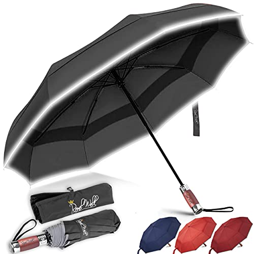 Royal Walk Windproof Folding Travel Umbrella Compact and Strong Luxurious...
