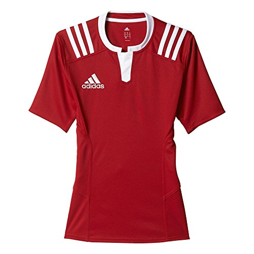 adidas Mailot de Rugby TW 3Stripes Jersey Fitted - Homme - M Rouge - powred/White