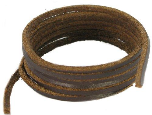 Patin et Boot -lacets en cuir marron foncé 160cm