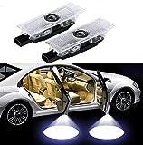 Duleutgnu 2 pezzi Illuminazione portiera auto Logo di benvenuto Definizione ombra fantasma Decorazione auto LED Porte per auto Luci di ingresso Lampada emblema 3D (For A-lfa)