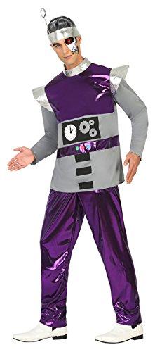 Atosa- Disfraz Hombre Robot del Espacio, Color Violeta, XL (17196)