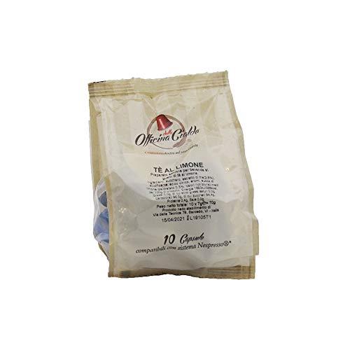 ODC Capsule compatibili con macchina da Caffè sistema Nespresso kit formato da 100 cialde solubile al Te al Limone con chiusura salva freschezza MADE IN ITALY