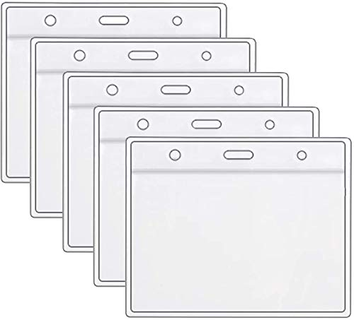 Health Card ID Card Protective Case Waterproof PVC Soft Card Case-Card Protector 4 X 3 in Name Tag Badge Cards Holder Clear Vinyl Plastic Sleeve with Waterproof Type Resealable Zip (5 Pack)
