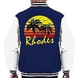 Cloud City 7 Rhodes Vintage Sun Men's Varsity Jacket