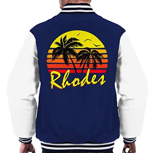 Cloud City 7 Rhodes Vintage Sun Men\'s Varsity Jacket