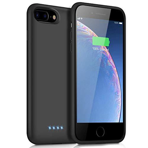 Akkuhülle für iPhone 7 Plus/6S Plus/8 Plus/6 Plus,【2019 Neueste】8500mAh Zusatzakku Handyhülle Akku Battery Case Powerbank Hülle für iPhone 7 Plus/6S Plus/8 Plus/6 Plus [5,5 Zoll] Akku Hülle Akku Case