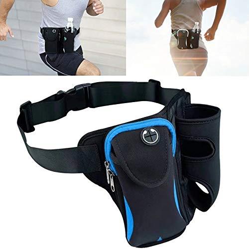 lianlian Gürteltasche Multifunktionsunisex Laufen Outdoor Sports Wasserflasche Hüfttasche (Color : Blue)