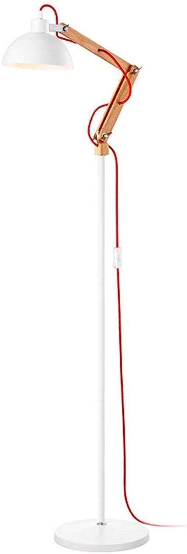 Floor Stand Lights - Wohnzimmer-Schlafzimmer-hölzerne Stehlampe-modernes minimalistisches langes weißes Lesestehendes Licht - Design Fixture Lighting B07PXK2S82 | Maßstab ist der Grundstein, Qualität ist Säulenbalken, Preis ist Leiter