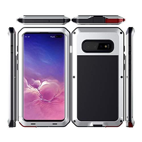Veilig kopen Samsung Galaxy S10 S10 Plus Compatibel Aluminium Gorilla Metalen Siliconen Volledige Lichaam Hybride Militaire Schokbestendig Stofbestendig Defender Zware Duty Cover Voor S10 S10 Plus
