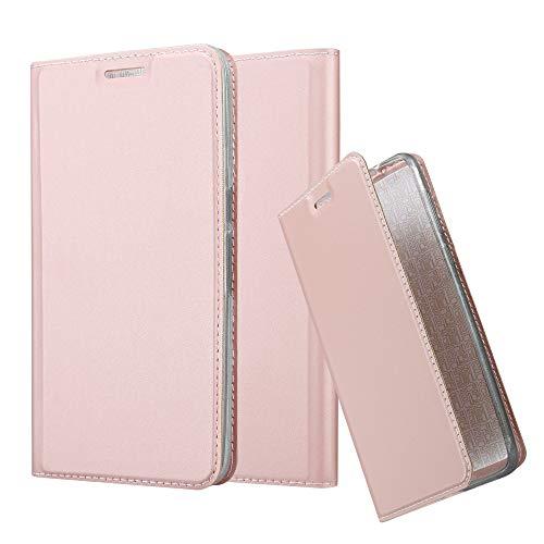 Cadorabo Hülle für Huawei Nexus 6P in Classy ROSÉ Gold - Handyhülle mit Magnetverschluss, Standfunktion & Kartenfach - Hülle Cover Schutzhülle Etui Tasche Book Klapp Style