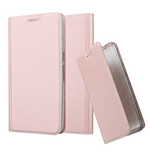 Cadorabo Book Case Works with Huawei Nexus 6P in Classy ROSÉ Gold – with Magnetic Closure, Stand Function and Card Slot – Wallet Etui Cover Pouch PU Leather Flip