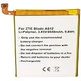 Batería para ZTE BA910 Blade A910, Blade A910 Dual, Blade A910 Dual SIM Li3925T44P8h786035